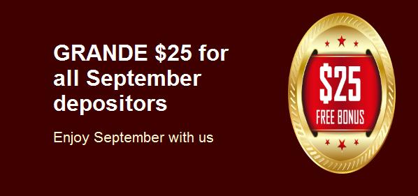 Grande Vegas $25 Free